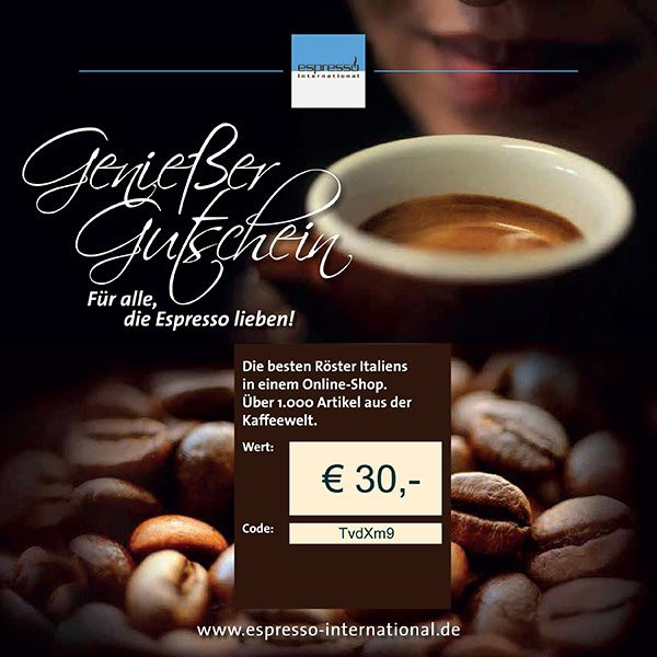 Coffee Gift Voucher Espresso International