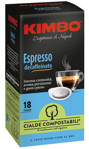 Kimbo ESE Pods | without caffeine | 18 pieces in dispenser